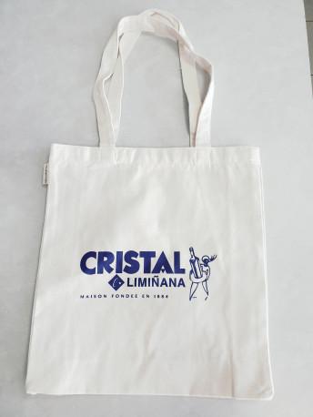 Sac tote bag en coton bio au logo Cristal